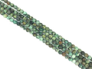 Matte African Turquoise Round Beads 4Mm