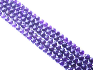Amethyst G2 Faceted Rounds 8Mm