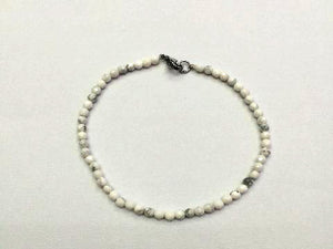 Howlite White Faceted Rounds Bracelet 3Mm