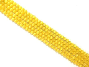 Artificial Opal Yellow Round Beads 6Mm
