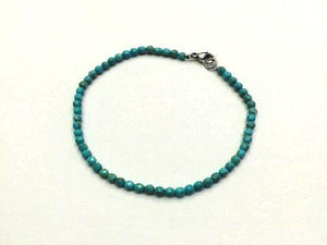 Blue Magnesite Faceted Rounds Bracelet 3Mm