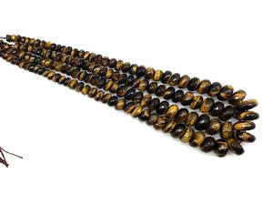 Tiger Eye Graduated Faceted Roundel 8-18Mm