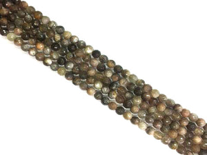 Black Sunstone Faceted Rounds 8Mm