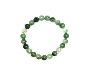 African Green Calcedong Jade Bracelet 6Mm