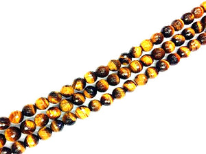 Tiger Eye Faceted Rounds 4Mm