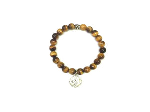 Tiger Eye Metal Guajian Bracelet 8Mm