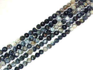Color Black Fire Agate Faceted Rounds 8Mm
