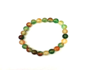 Color Agate Green Bracelet 6Mm