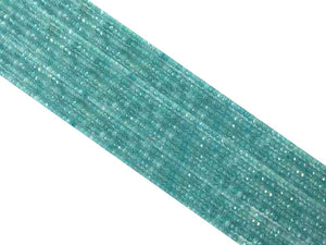 Color Jade Aquamarine Faceted Roundel 2X4Mm