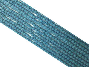 Lava Stone Blue Round Beads 18Mm