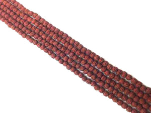 Lava Stone Red Round Beads 18Mm