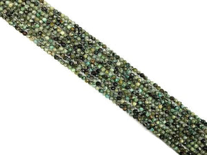 African Turquoise Faceted Round Beads 4Mm