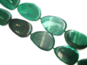 Color Agate Green Free Form 45X60Mm