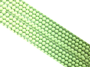 Matte Shell Pearl Green Faceted Rounds 10Mm