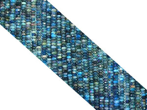 Apatite Super Precision Cut Faceted Roundel 3X4Mm