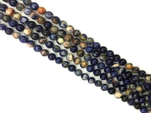 Red Line Sodalite Round Beads 14Mm