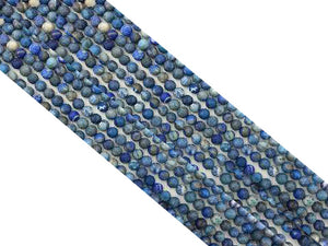 Matte Denim Lapis G2 Round Beads 8Mm