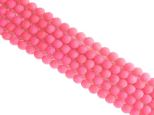 Matte Color Jade Rose Round Beads 12Mm