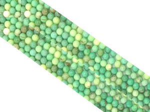 Green Grass Agate Round Beads 16Mm