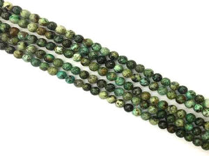African Turquoise Faceted Round Beads 10Mm