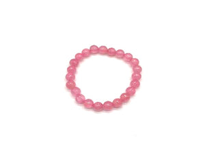 Color Stone Peach Bracelet 8Mm