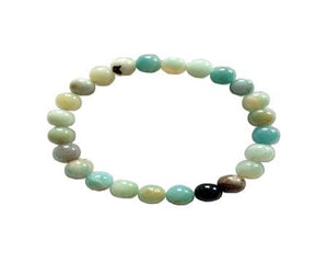 Black Cloudy Amazonite Bracelet 6Mm