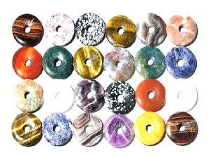 Assorted Stones Donut 40Mm
