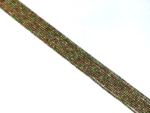 Unakite Super Precision Cut Faceted Rounds 14 Inch 2Mm