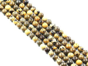Yellow Aric Jasper Round Beads 18Mm