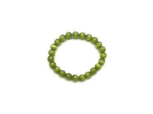 Artificial Opal Green Bracelet 8Mm