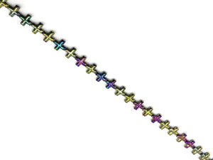 Hematite Rainbow Cross 12Mm