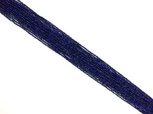 Color Enhanced Lapis Round Beads 2Mm