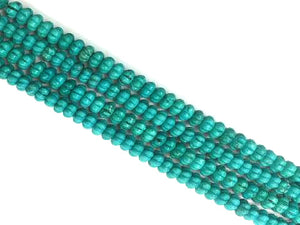 Stabilized Magnesite Green Carved Beads 9Mm