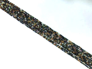 Tourmaline Super Precision Cut Faceted Rounds 14 Inch 2Mm