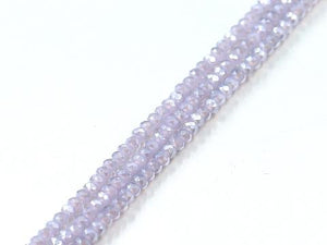 Thunder Polish Glass Crystal Light Purple Faceted Roundel 2X3Mm