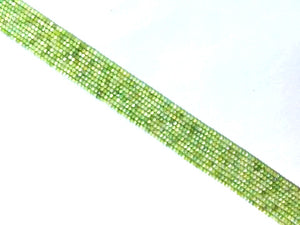Serpentine Super Precision Cut Faceted Rounds 14 Inch 2Mm