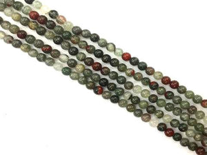 African Bloodstone Round Beads 8Mm
