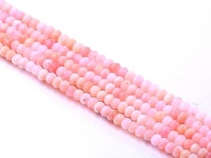 Pink Opal G1 Super Precision Cut Faceted Roundel 2X4Mm