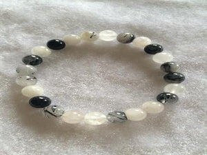 Tourmalated Quartz Bracelet 6Mm