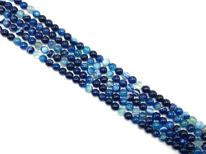 Color Sardonyx Blue Round Beads 14Mm