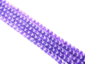 Amethyst G1 Faceted Rounds 8Mm