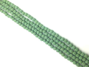 Lava Stone Green Round Beads 18Mm