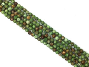 African Green Opal Faceted Rounds 6Mm