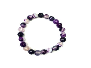 Purple Sardonyx Bracelet 8Mm