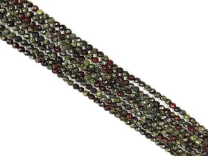 Aust Dragon Blood Faceted Round Beads 4Mm