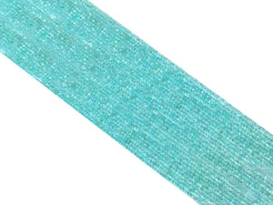 Amazonite Super Precision Cut Faceted Rounds 14 Inch 2Mm