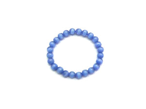 Artificial Opal Light Blue Bracelet 8Mm