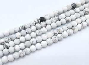 Matte  Howlite White Round Beads 8Mm