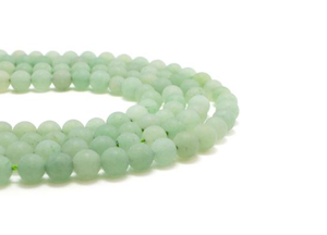 Matte Aventurine Light Green Round Beads 8mm