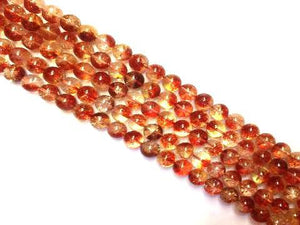 Color Crystal Quartz Red Round Beads 14Mm